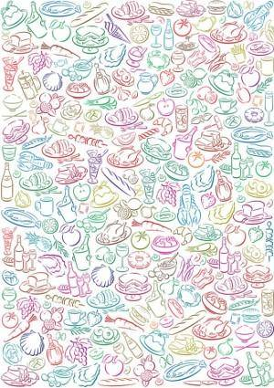 Background vector cute diet