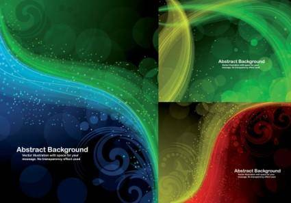 3 cool dynamic pattern of light vector background