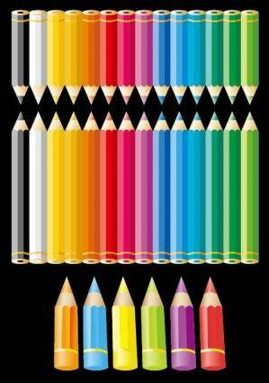 free vector Color pencil vector