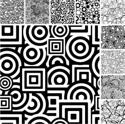 A variety of black and white background vector graphic
