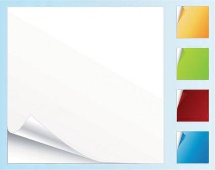 free vector Blank colored paper roll angle vector
