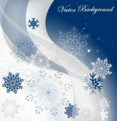 free vector Snowflake background 01 vector