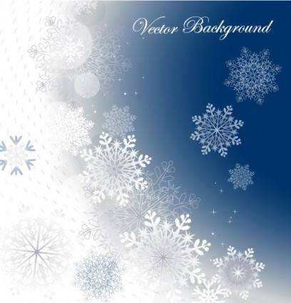 Snowflake background 02 vector