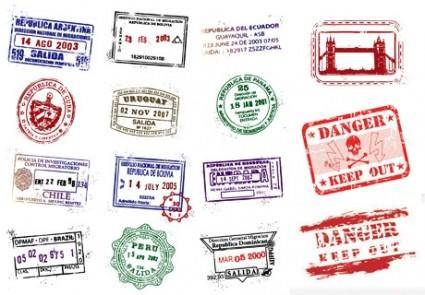 free vector Postmarks vector
