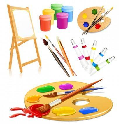 free vector Vector drawing tools supplies