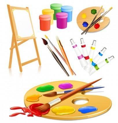 Vector drawing tools supplies