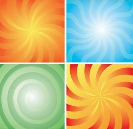 free vector 4 rotation lines of the background vector