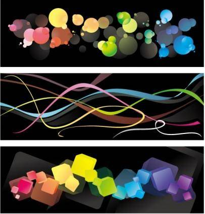 3 colorful background vector