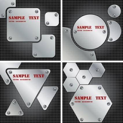 free vector Metallic background 01 vector