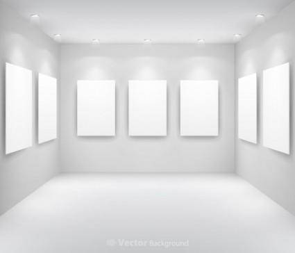 Gallery display background 13 vector