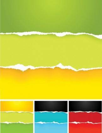 Colorful torn paper vector