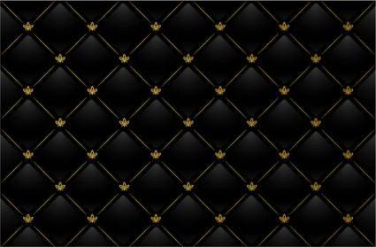 Black checkered tile the background vector