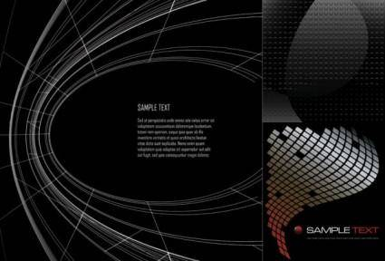 Dynamic vector black background