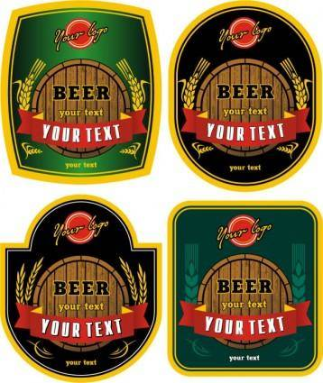 free vector Beer bottle stickers vector