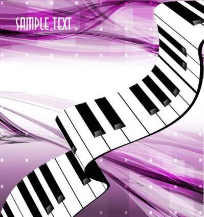Gorgeous piano key background 05 vector