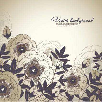 Elegant floral background 03 vector