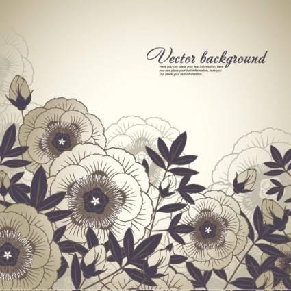 Elegant floral background 03 vector