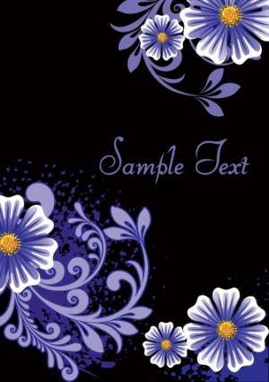 free vector Fashion floral background 03 vector