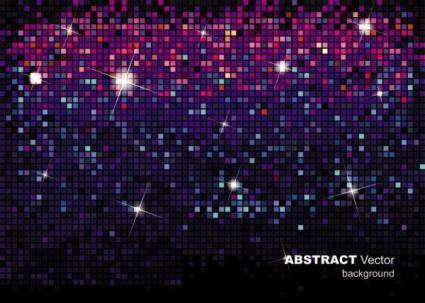 The gorgeous starstudded background of 01 vector