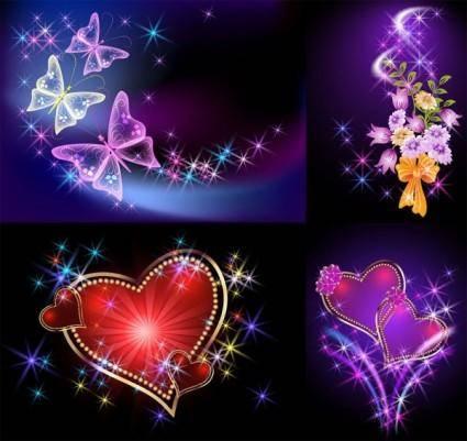 Light romantic background vector