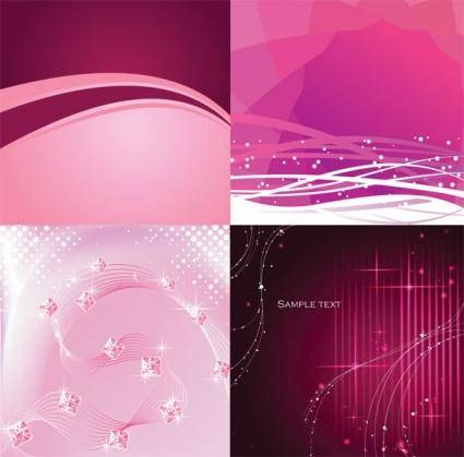 Dynamic lines of pink and purple background vector