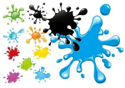 Colorful ink vector 1693