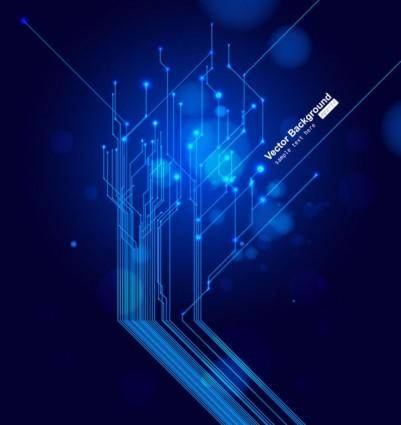 Dynamic technological background bright 01 vector