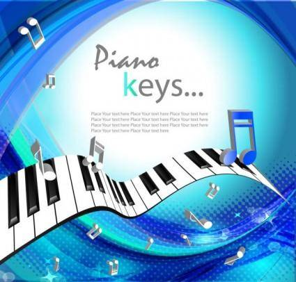 free vector Beautiful background piano keys 01 vector