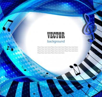 free vector Gorgeous piano key background 03 vector