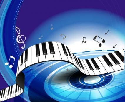 Gorgeous piano key background 04 vector