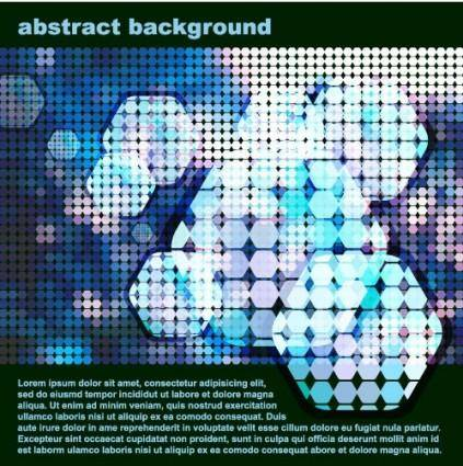 Sense of science and technology background vector 2 dot