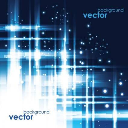 Cool blue glare background vector 2