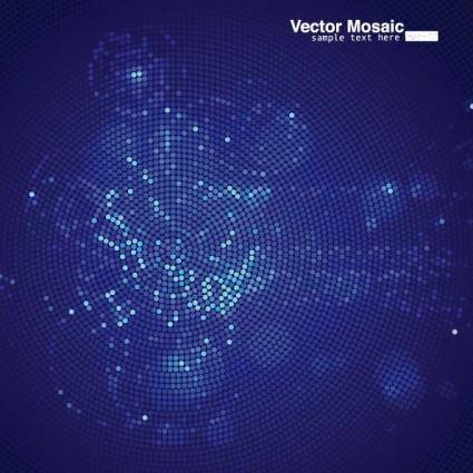free vector Dynamic mosaic star background 04 vector