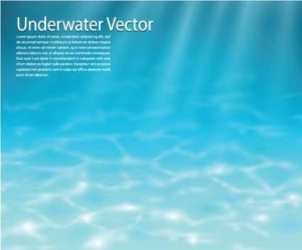free vector Underwater background vector