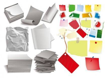 free vector Various forms of paper vector