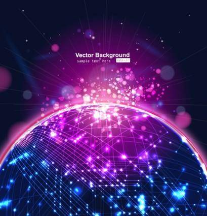 Cool glare background vector 11