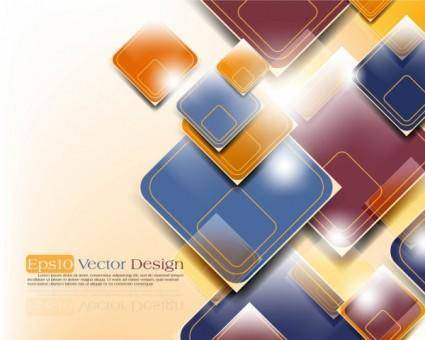 Gorgeous threedimensional dynamic background 03 vector