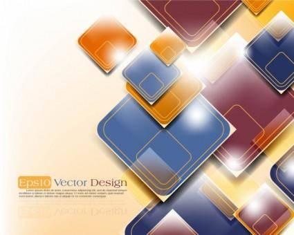 Gorgeous threedimensional dynamic background 03 vector