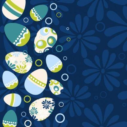 free vector Easter egg illustration background 03 vector