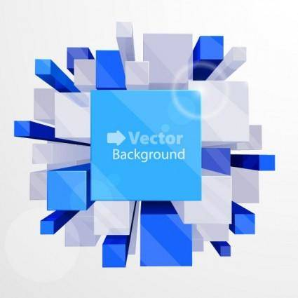 free vector Beautiful vector background 3 cube