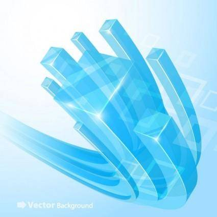 Beautiful vector background 4 cube