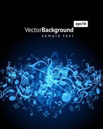 Music keys blue background 02 vector