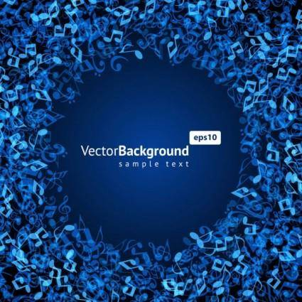 free vector Music keys blue background 03 vector