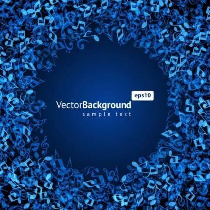 Music keys blue background 03 vector