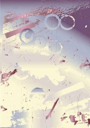 Wear splash effect nostalgic background of 01 vector