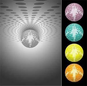 free vector Disco disco laser crystal ball vector