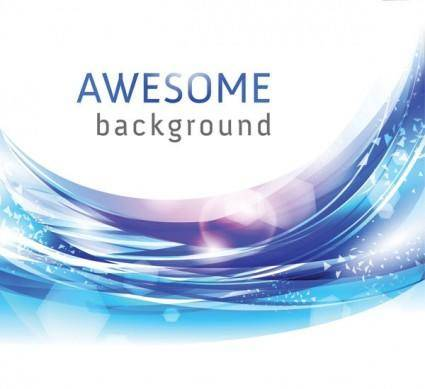 Brilliant light vector dynamic background 3