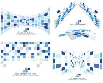 Dynamic technology box pattern background 03 vector