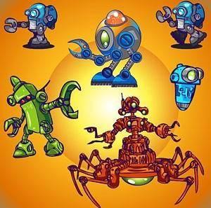 Vector cute robot