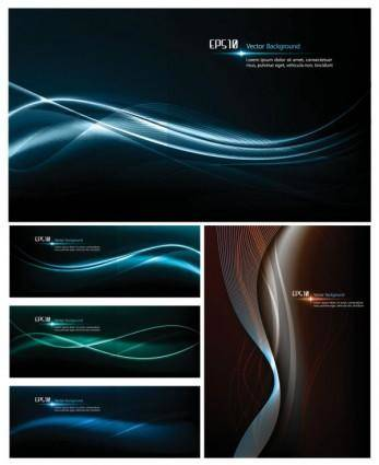 Dynamic light vector background